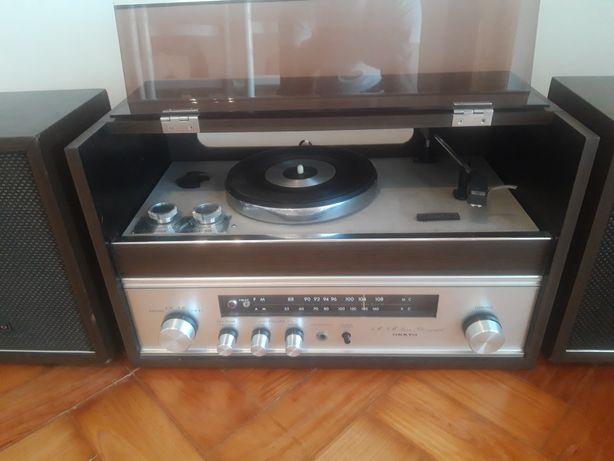 Gira discos vintage Onkyo Stereo Phonograph leitor de vinil e rádio