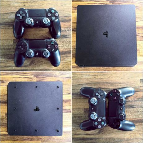 PS4 Slim 500 GB, 6 gier (m.in: FIFA, GTA V, UNCHARTED, GRAN TURISMO)