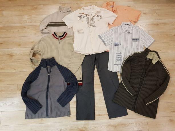 Paka ubrań męskich M  zestaw sweter spodnie koszula golf