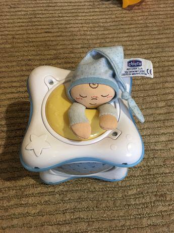 Детский ночник проектор радуга chicco