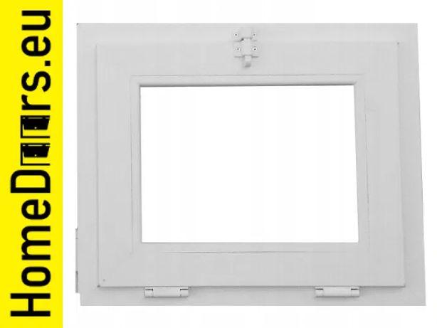 Okno pcv uchylne gospodarcze 1200x600 mm białe profil 60 mm