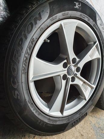 Koła zimowe Audi Q7 4M0 Touareg III 255/55R19 Pirelli 17r 7mm czujniki