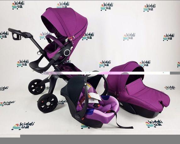 Дитяча коляска Dsland v4 (3 в 1) з автокріслом