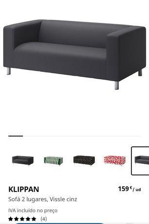 Klippan IKEA sofá 2 lugares
