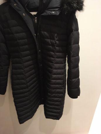 Płaszcz ZARA XL kurtka pikowana puchowa kaptur