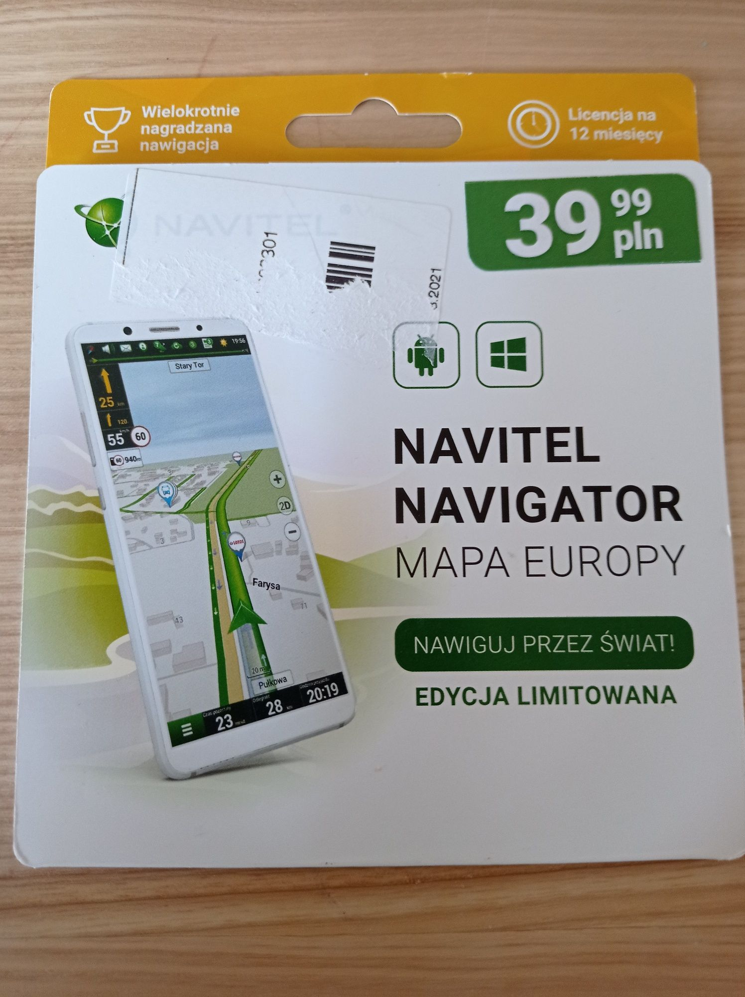 Mapa Europy na telefon.