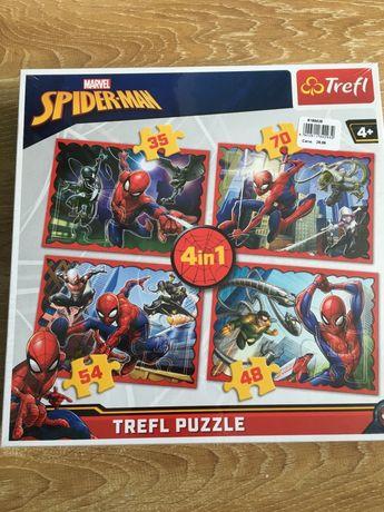 Puzzle Spiderman 4+ 4w1 nowe w folii za SuperZinks