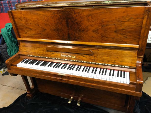 Wspaniałe pianino Sommerfeld z prof pracowni, transport GRATIS