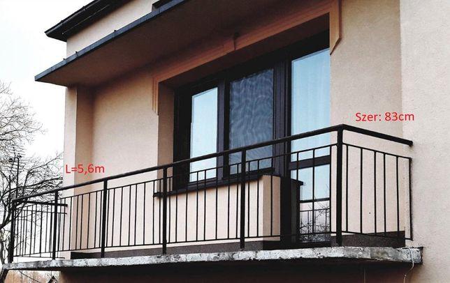 Balustrada/ barierka balkonowa 5,6 x 0,83 z demontażu