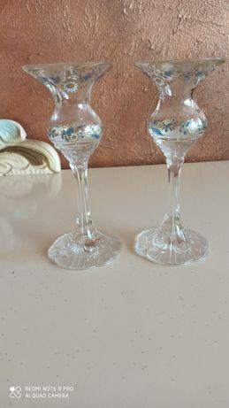 Rosenthal dwa szklane świeczniki