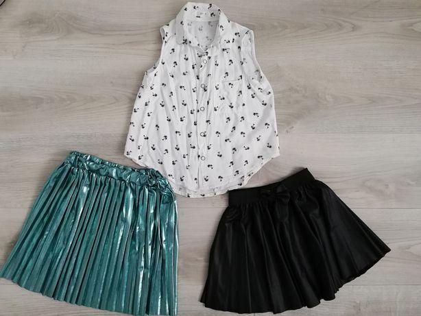 Dziewczynka 122-128 spódnica, bluzka