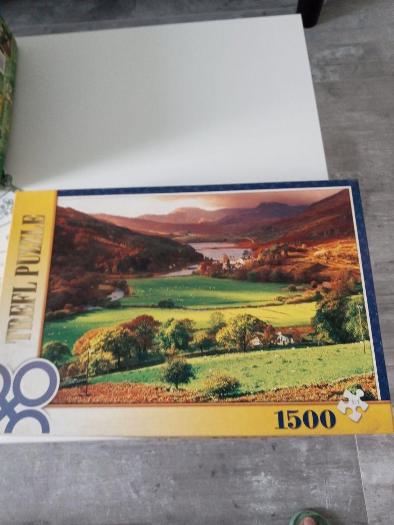 Puzzle 1500 elementów ,25zł za 3szt