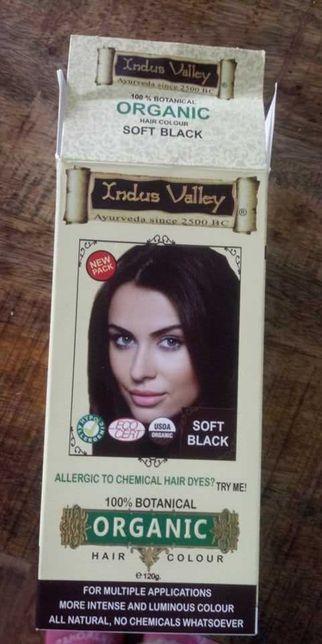 Farba/Henna Ziołowa Indus Valley Soft Black