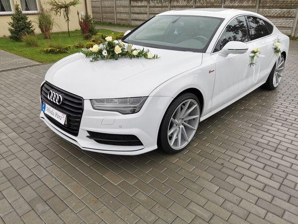 Samochód auto do ślubu białe Audi A7