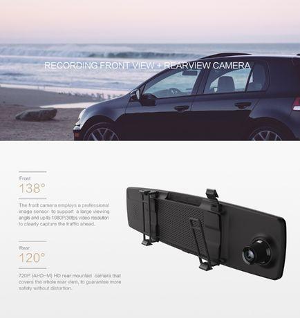 Видеорегистратор зеркало Xiaomi Yi Mirror Dash Camera + задняя камера