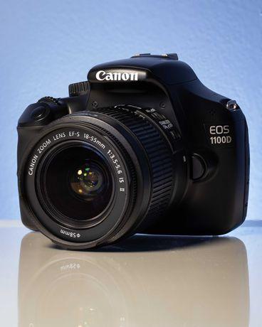Máquina Fotográfica Canon EOS 1100D + Objetiva EF-S 18-55mm + Livro