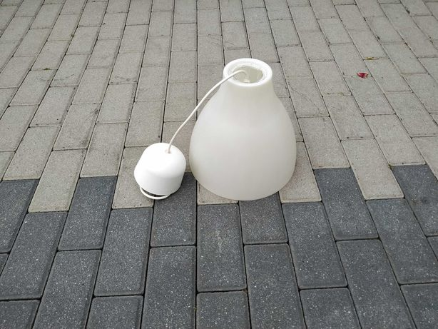 Lampa wisząca biała IKEA Typ T0706 Melodi E27 Max 75W