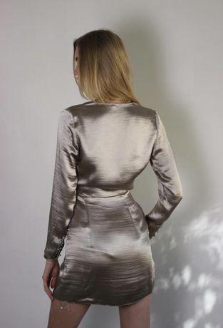 Платье атласное asos на запах С
