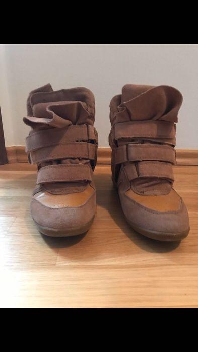 Sneakersy na koturnie ala Isabel Marant 40 Września - image 1
