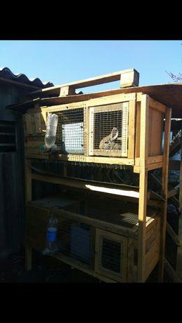Двух этажная клетка для кроликов