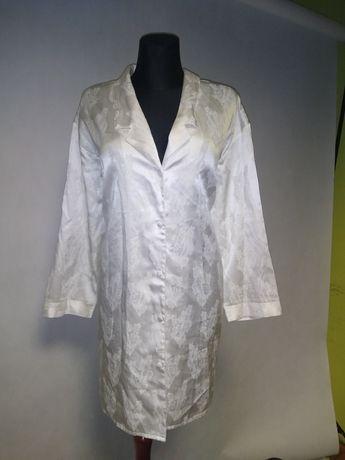 Piżama damska bielizna koszula nocna szlafrok elegancki szpitala L