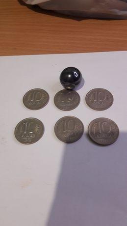 10 рублей 1992 год Россия не магнитная