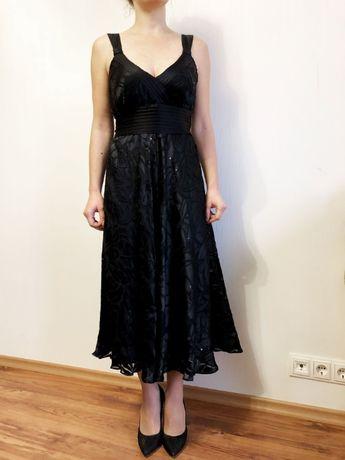Черное шелковое платье в пол