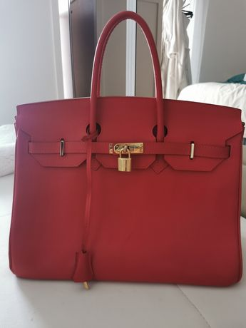Mala Hermès Birkin 35 cm Rouge