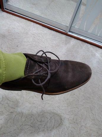 Мужские туфли полностью натуральные фирмы Clarks