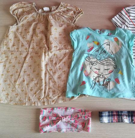 Mini paka - bluzka, sukienka rozmiar 80 – Zara, H&M