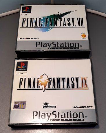 Jogos Final Fantasy VII/7 e IX/9 para a PlayStation/PS1 (incompletos)