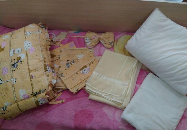 Постельное белье детское в кроватку 8 в 1 набор
