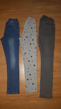 Spodnie r. 134 140 jeansy legginsy