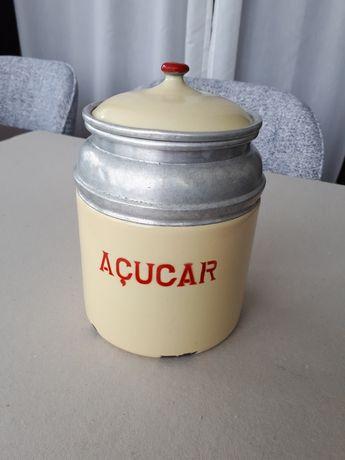 Pote de cozinha esmaltado açúcar