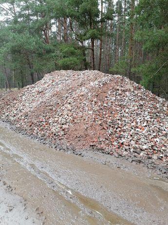 Gruz kruszony, Kruszywo ceglano betonowe, piasek, ziemia,
