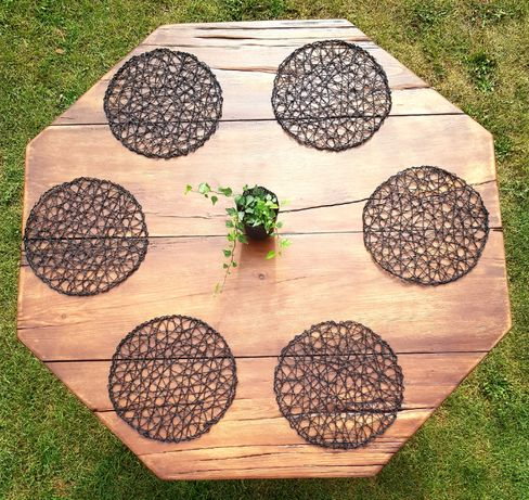 Stół drewniany, lite drewno