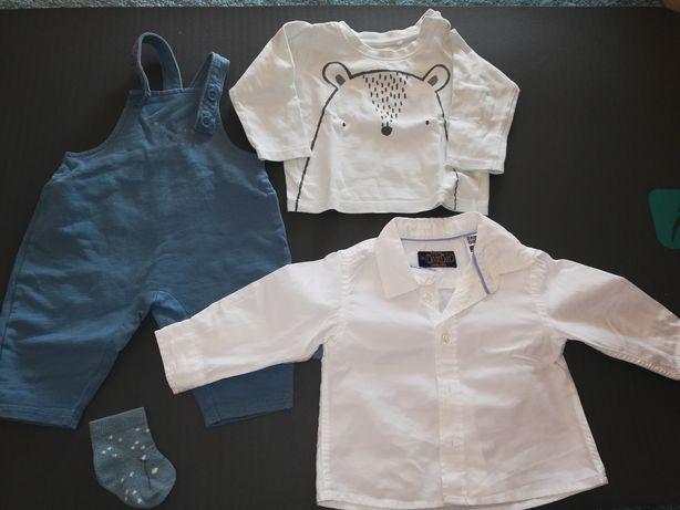 Lote roupa bebé menino 3-6 meses, inclui portes de envio