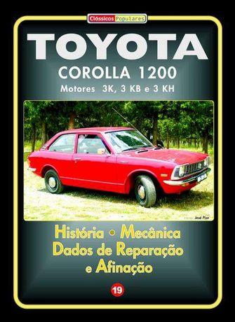 Toyota Corolla 1200 Manual Técnicos em Português