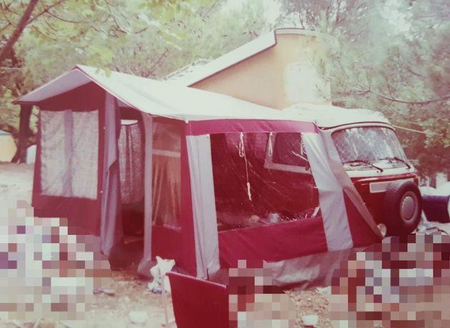 Namiot VW T2 Ogórek przedsionek sypialnia westfalia camper camping