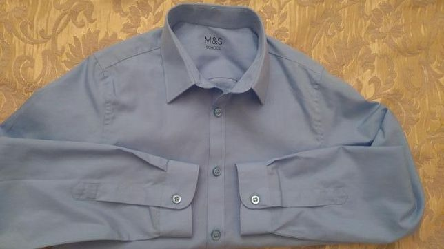 Рубашка marks &spenser 7-8 лет.