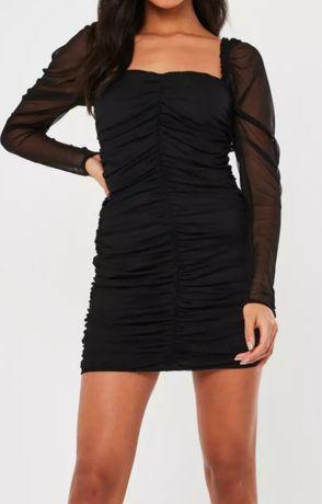 Sukienka Missguided  mini  czarna siateczka