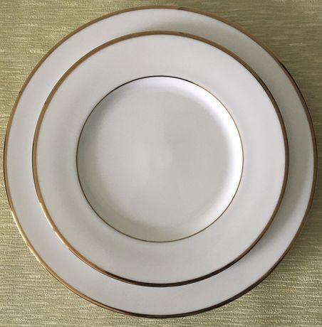 Набор тарелок Gold line, японский фарфор.
