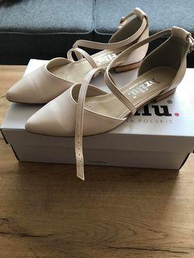 buty ślubne balerinki czółenka Brilu 39