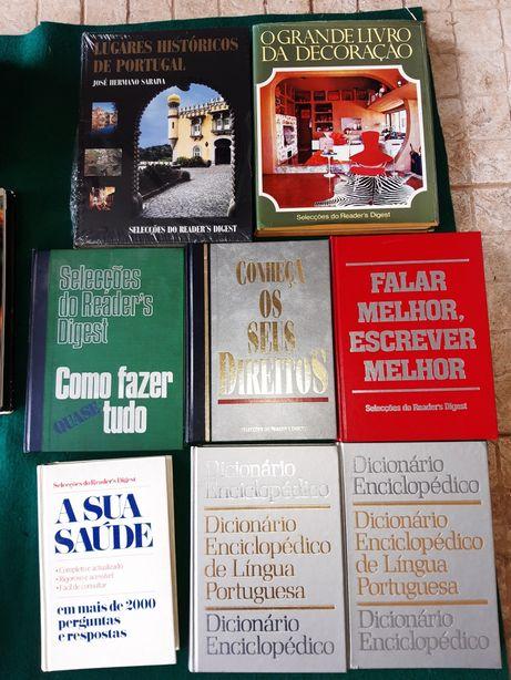 Conjunto de livros de vários temas