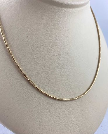 Złoty łańcuszek Żmijka PR.585 (14K) 46,5 cm