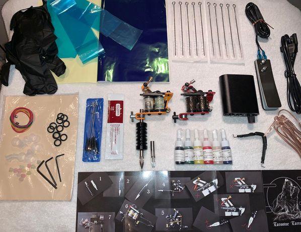 Kit Profissional COMPLETO (NOVO) 2 Máquinas Linha e Sombra, Fonte,Tint