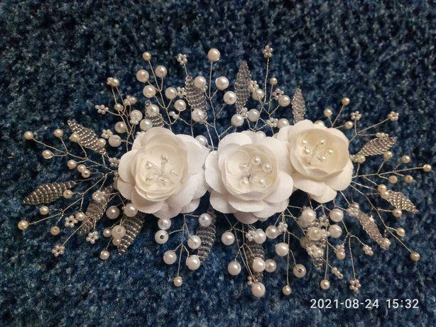 свадебное украшение,заколка,декоративная веточка