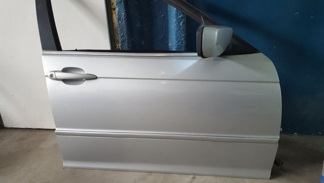 Drzwi BMW E46 Prawy Przód Kod Lakieru: Titansilber Metallic 354/7