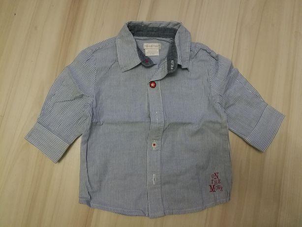 Koszula niemowlęca Mamas&Papas dla chłopca chłopaka 62 0-3