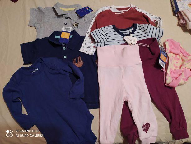 Нові футболки,кофтинки,боді,штанці Lupilu 62-68